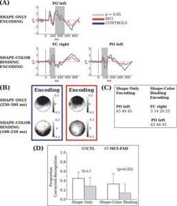 Behavioral and electrophysiological corrrelates of memory binding deficits